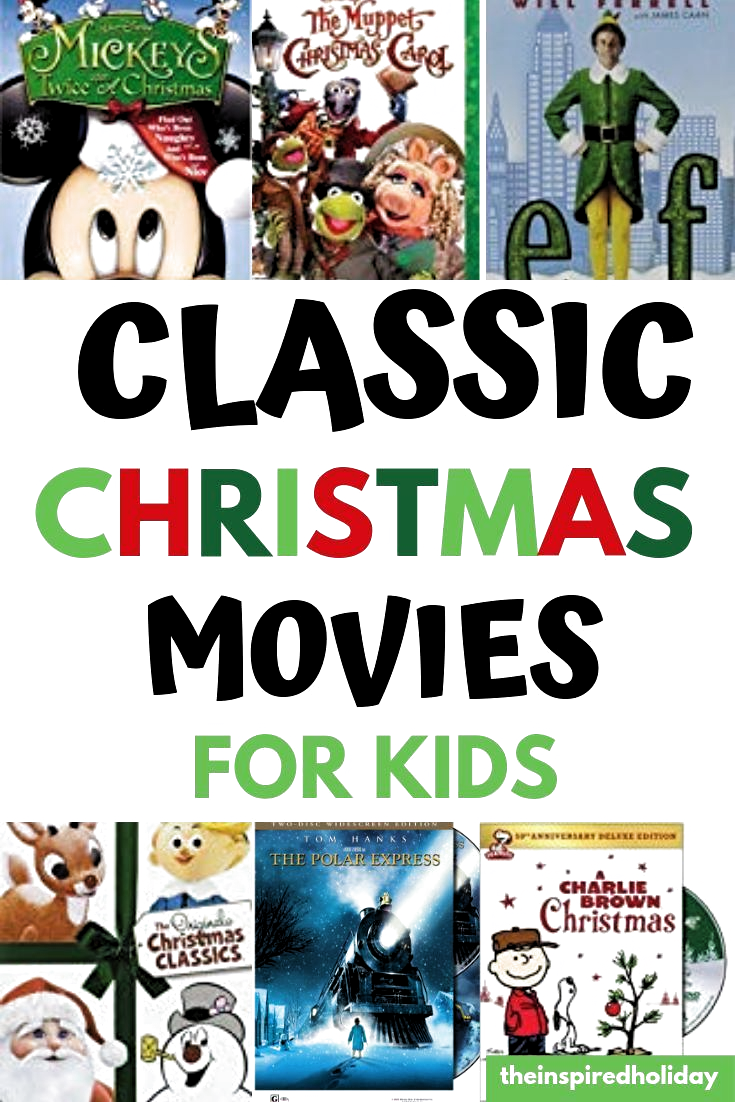 The must watch classic Christmas movies for kids. Learn which movies you should watch with your family this year. One of the easiest Christmas traditions you can start with your family is a holiday themed movie night. Find out more at theinspiredholiday.com #christmastradtions #christmasclassics #christmasmovies #christmasforkids #holidaymovies