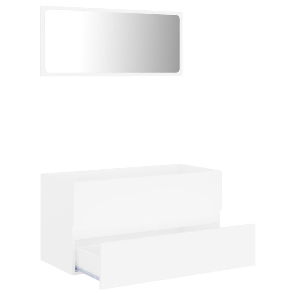 Photo of 2 Piece Bathroom Furniture Set White Chipboard