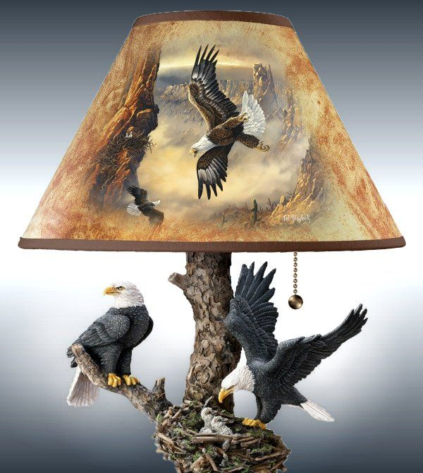 Ted Blaylock Majestic Bald Eagles Art Lamp