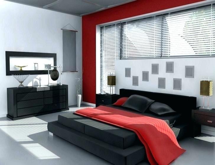 Schwarze und rote Möbel Innenarchitektur Bedroom red, Bedroom