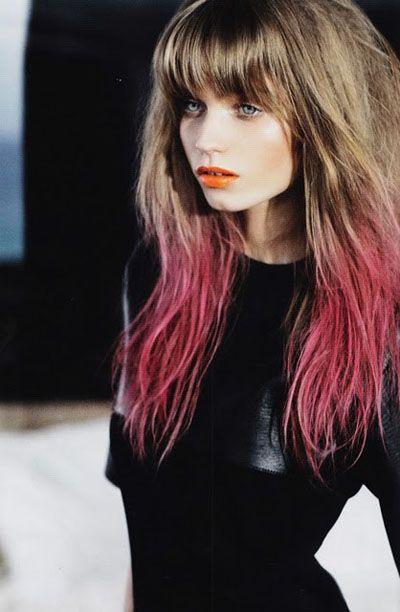How To Colour Block Hair Dipped Hair Dip Dye Hair Pink Ombre Hair
