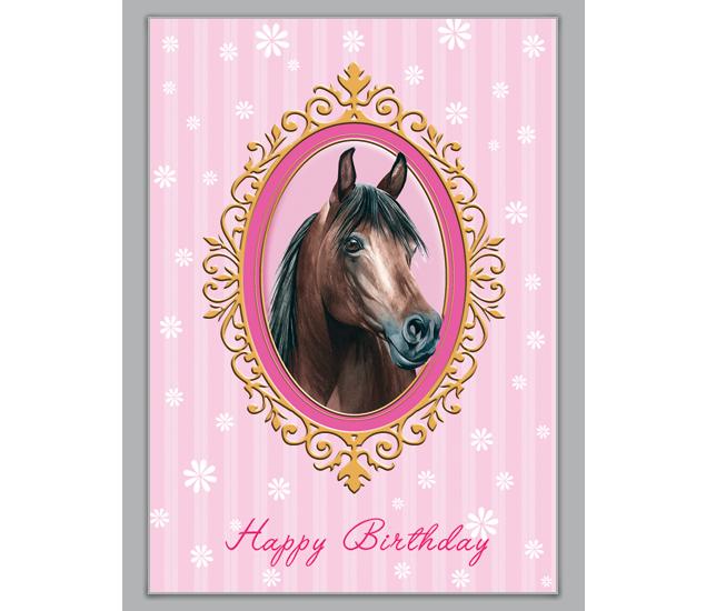 Happy Birthday Karte für Reiterinnen mit Pferd - http://www.1agrusskarten.de/shop/happy-birthday-karte-fur-reiterinnen-mit-pferd/    00014_0_863, Geburtstags Blumen, Glückwunschkarten, Gratulation, Gratulation zum Mädchen, Grußkarte, Klappkarte, Pferd, reiten, Reiter00014_0_863, Geburtstags Blumen, Glückwunschkarten, Gratulation, Gratulation zum Mädchen, Grußkarte, Klappkarte, Pferd, reiten, Reiter