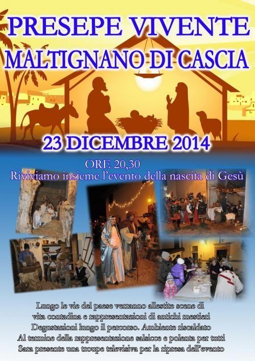 Presepe Vivente di Maltignano di Cascia, solo il 23 dicembre 2014
