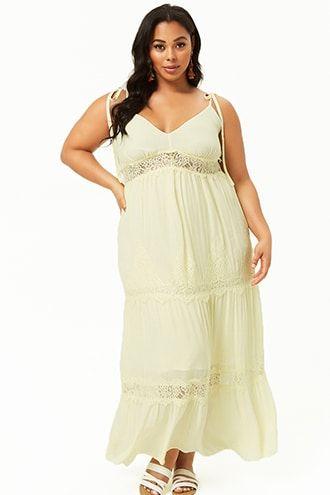 1b8494c1900b Plus Size Lace Trim Maxi Dress   Plus Size Dresses