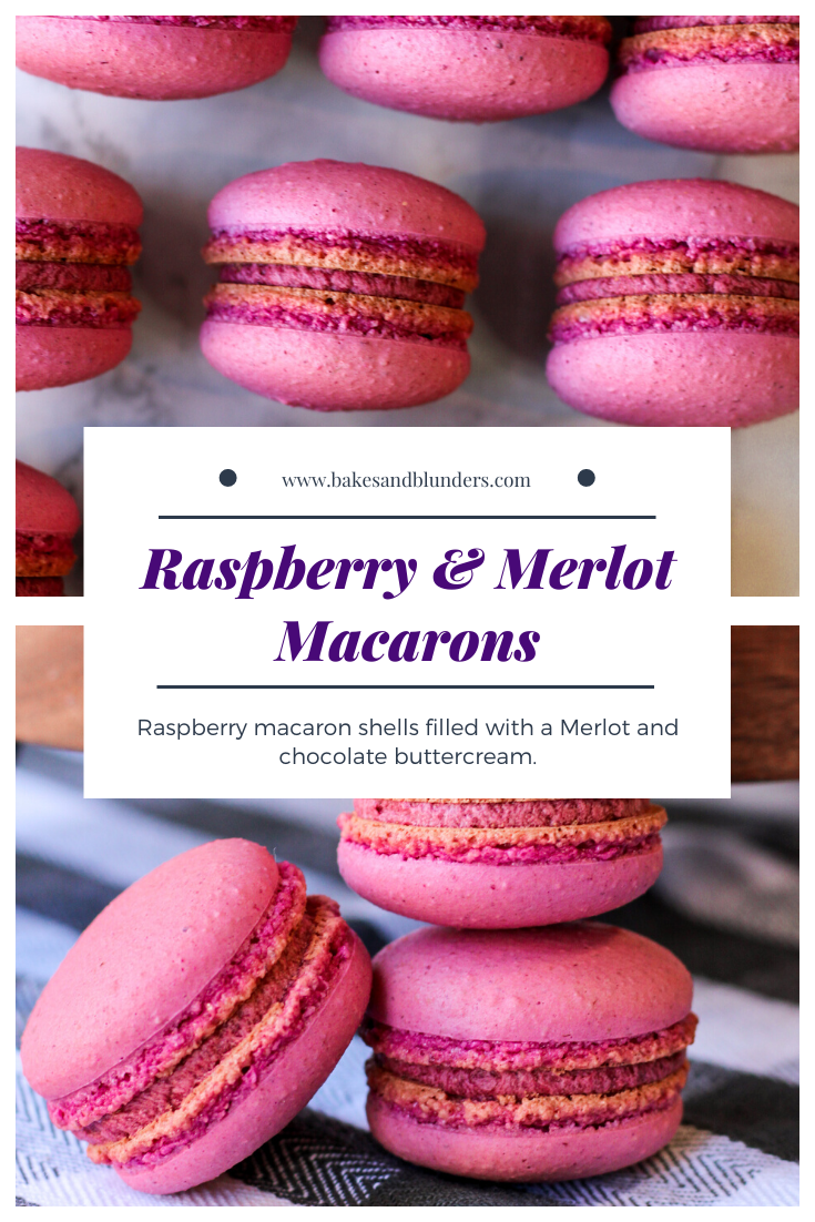 Raspberry and Merlot Macarons | Bakes and Blunders
