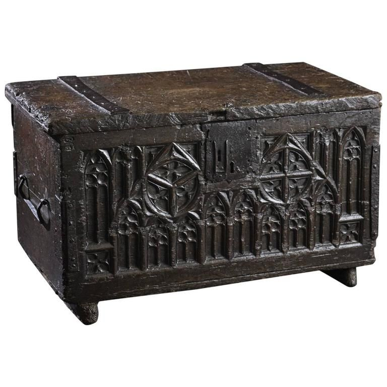 Fcbtc Rare 15th Century Gothic Oak Chest German Circa 1450 1500 From A Unique Collection Of Antique And Medieval Furniture Gothic Furniture German Decor