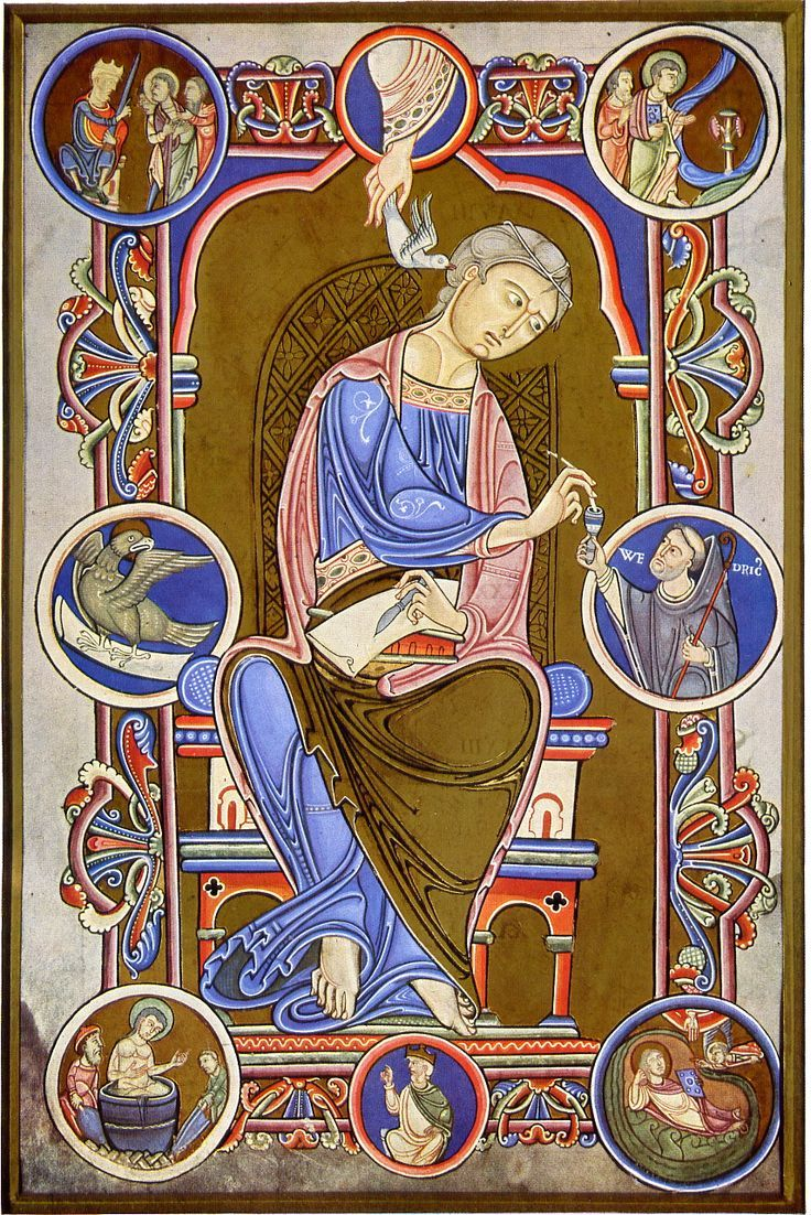 Pin by gen strong on dps research pinterest searching john the evangelist gospel book of abbot wedricus 1147 a buycottarizona Choice Image