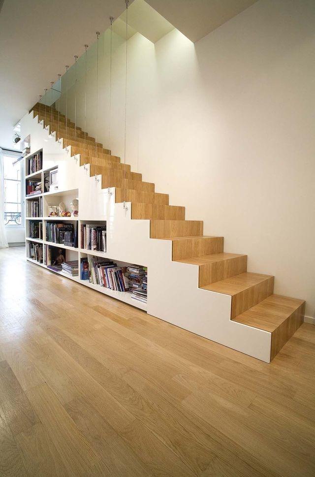 escalier droit en colima on pas japonais gain de place annexe house stairs interior. Black Bedroom Furniture Sets. Home Design Ideas