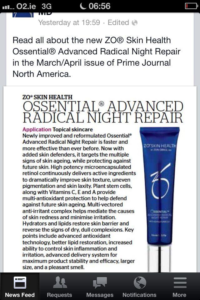 Schhhh Keep This Quiet Zo Radical Night Repair Contains 1 Retinol This Medical Skin Care Product Is Ex Medical Skin Care Health Skin Care Topical Skin Care