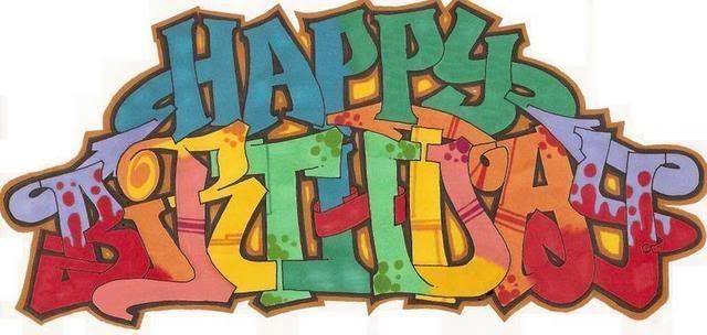 поздравление в стиле граффити