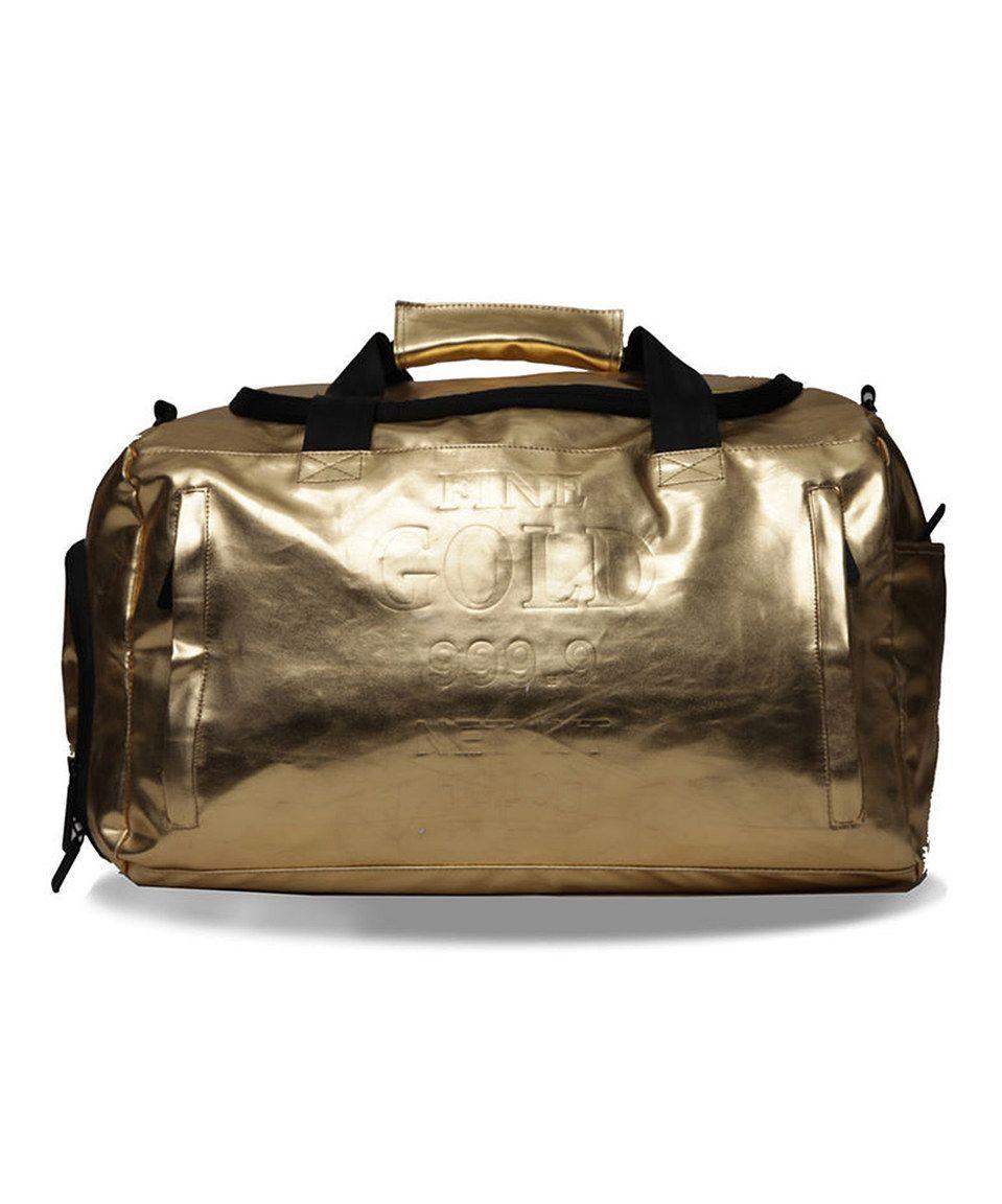 Sprayground Gold Brick Large Duffel Bag by Sprayground #zulily #zulilyfinds
