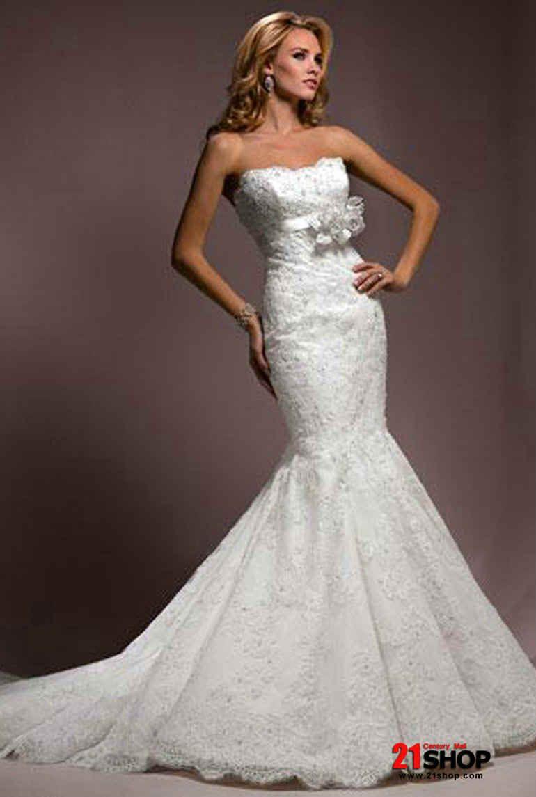 Mermaid lace wedding dress  Classic Romantic Lace MermaidTrumpet Wedding Gown  Wedding