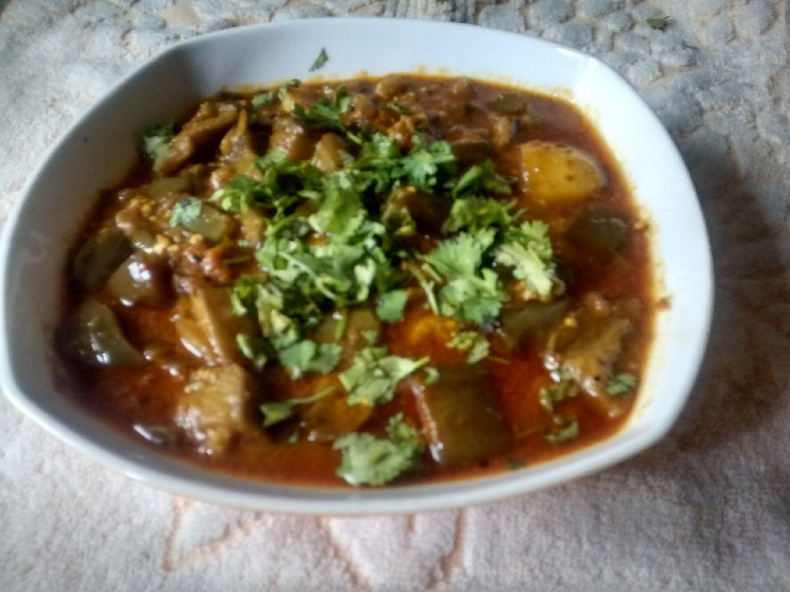 Aloo baigan ki subzi potato eggplant vegetable in hindi urdu this aloo baingan ki sabzi potatoes and eggplant vegetable is a simple easy tasty indian dish to prepare forumfinder Images