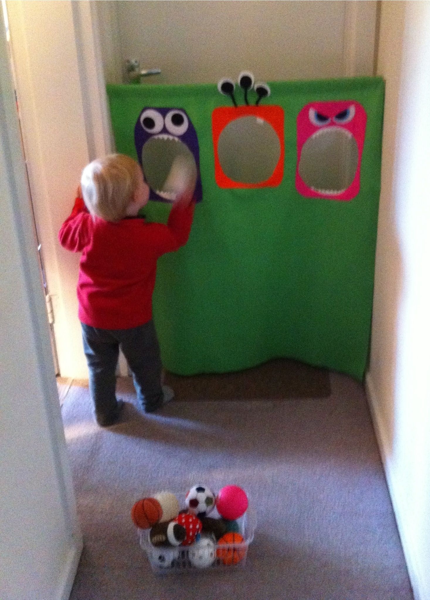 Diy Toddler Quot Monster Quot Ball Bean Bag Toss Game For Burning