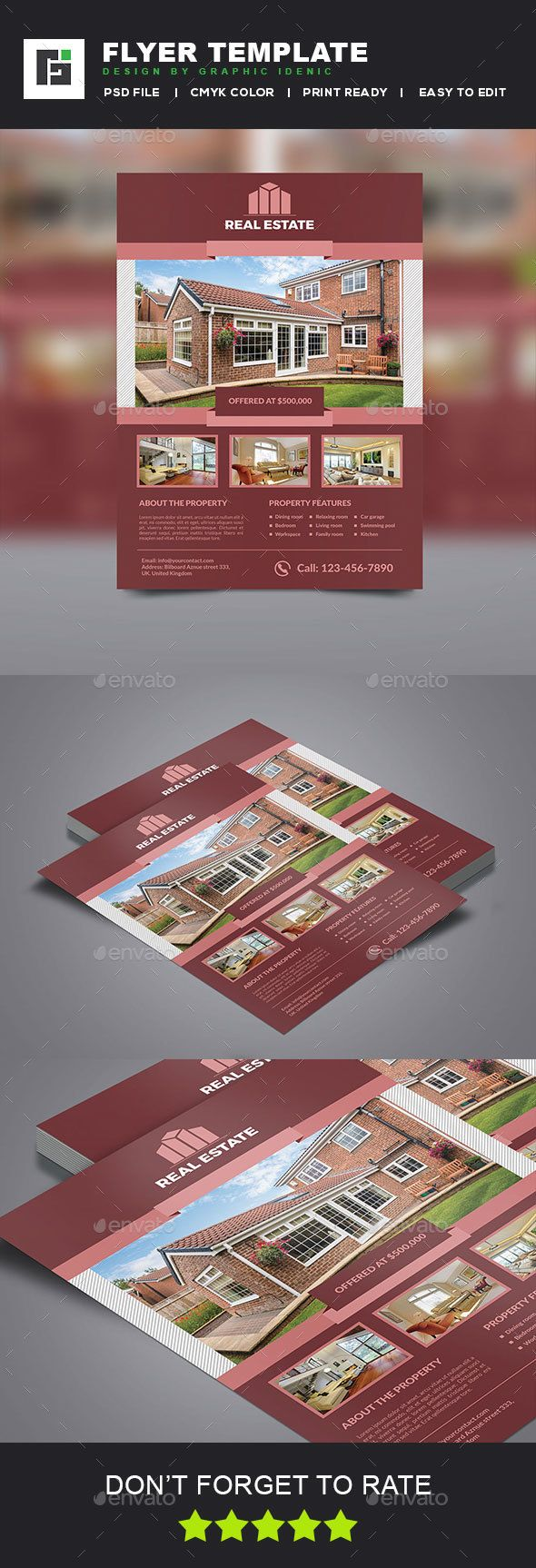Real Estate Flyer  — PSD Template #product #service #corporate • Click here to…