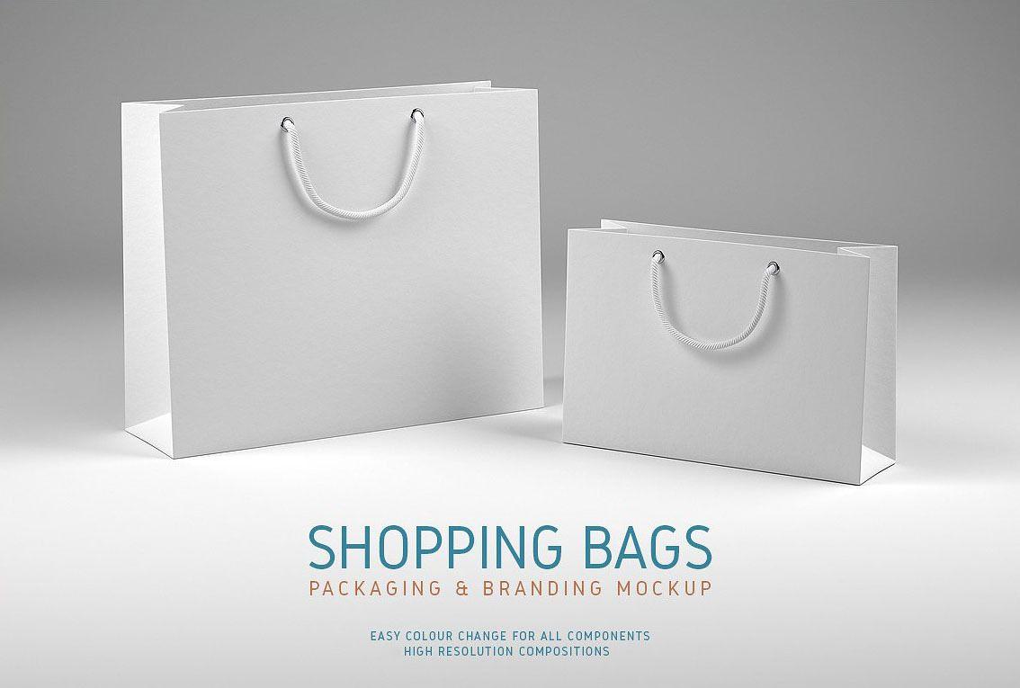 Shopping Bags Free Mockup On Behance Bag Mockup Mockup Branding Mockups