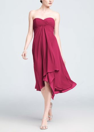 Strapless Chiffon Short Dress Style F12284 | Pewter, Colors and ...