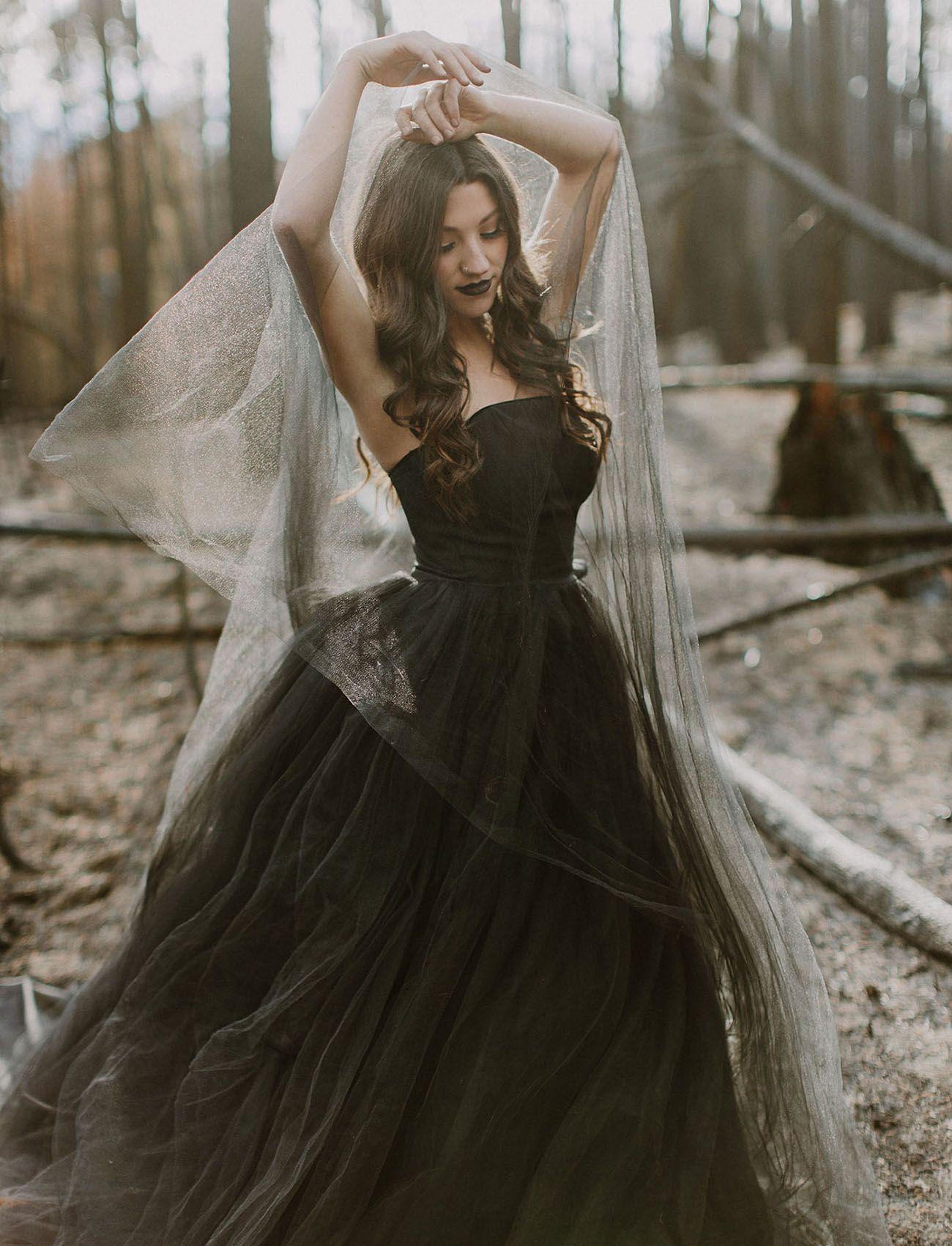Paint It Black Our Favorite Black Wedding Dresses Green Wedding Shoes Black Wedding Gowns Gothic Wedding Dress Halloween Wedding Dresses