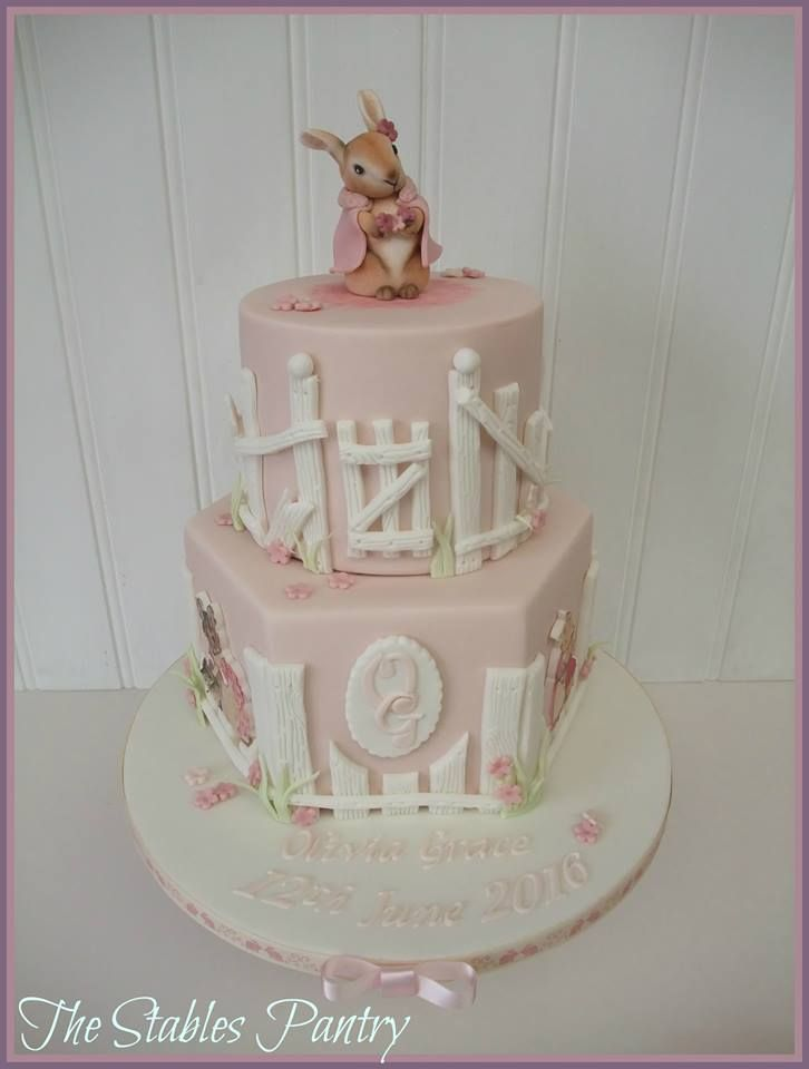 5f4c98812bed Two tier Flopsy Bunny cake - Beatrix Potter | The Stables Pantry ...