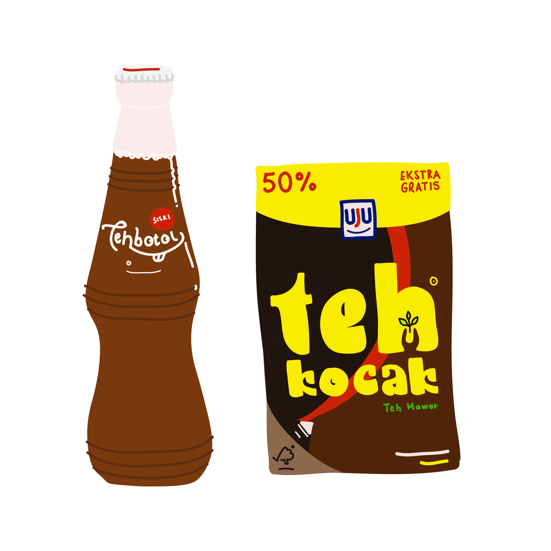 teh botol sosro teh kotak ilustrasi stiker ilustrasi karakter teh botol sosro teh kotak ilustrasi