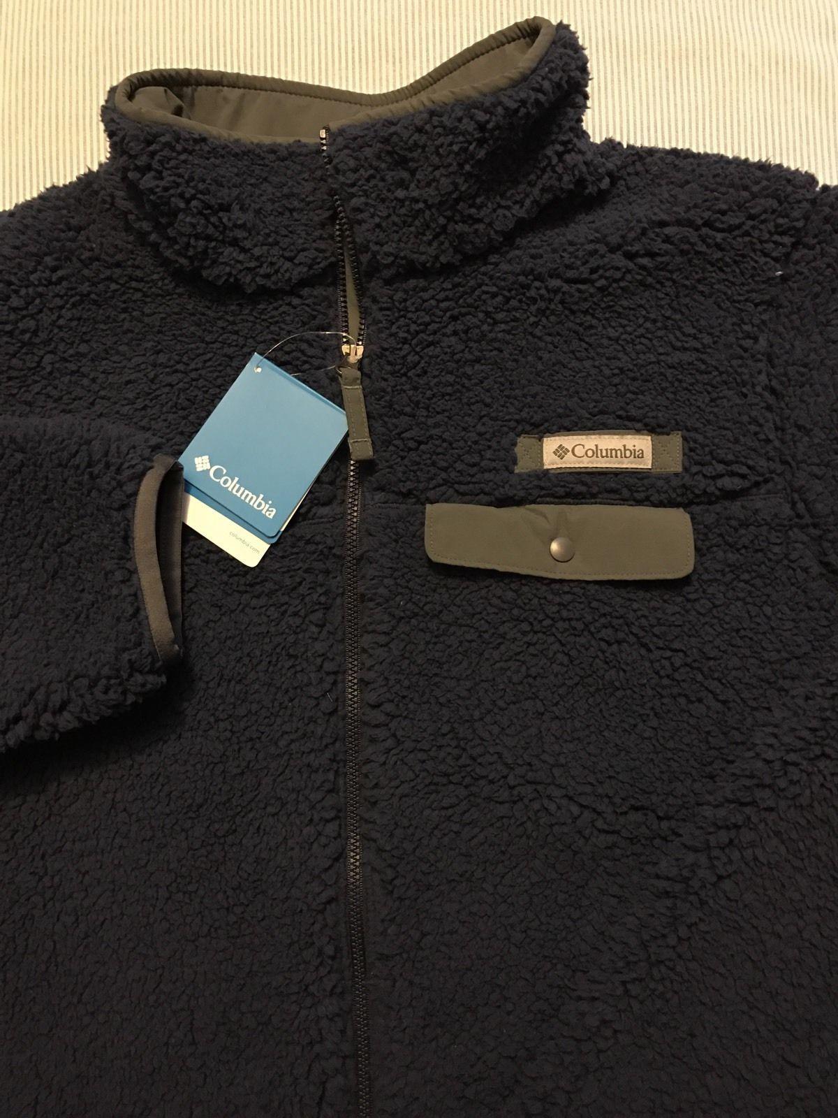Columbia Mountain Side Heavyweight Fleece Jacket Mens Size Medium New NWT Blue