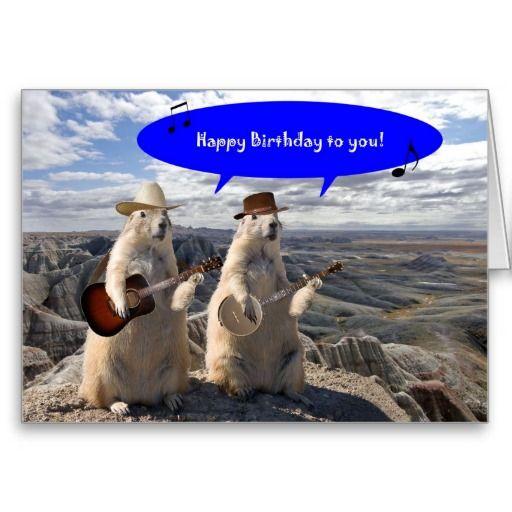 Hoedown In Prairie Dog Town Birthday Card Prairie Dogs Birthday