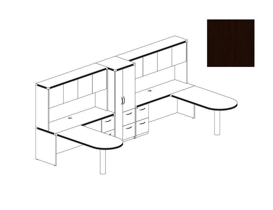 Aberdeen Series 8 Piece U Shape Desk Office Suite
