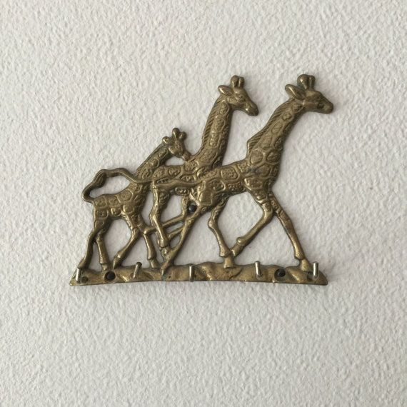 Brass Giraffe Wall Mount Key Holder With Five Hooks. The Family Of Giraffes  Makes This Key Organizer Especially Appealing. Hang Next To The Front Door  To ...