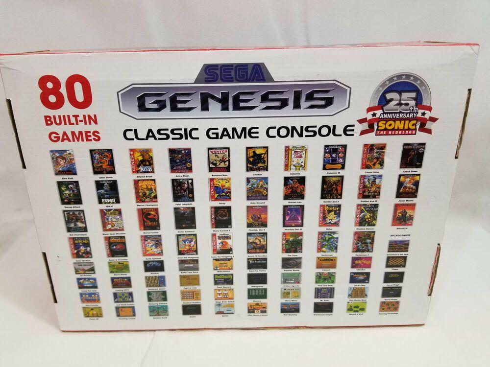 Sega Genesis Classic Game Console 2016 Version Atgames 80 Built In Games Sega Sega Genesis Sega Video Games Sega