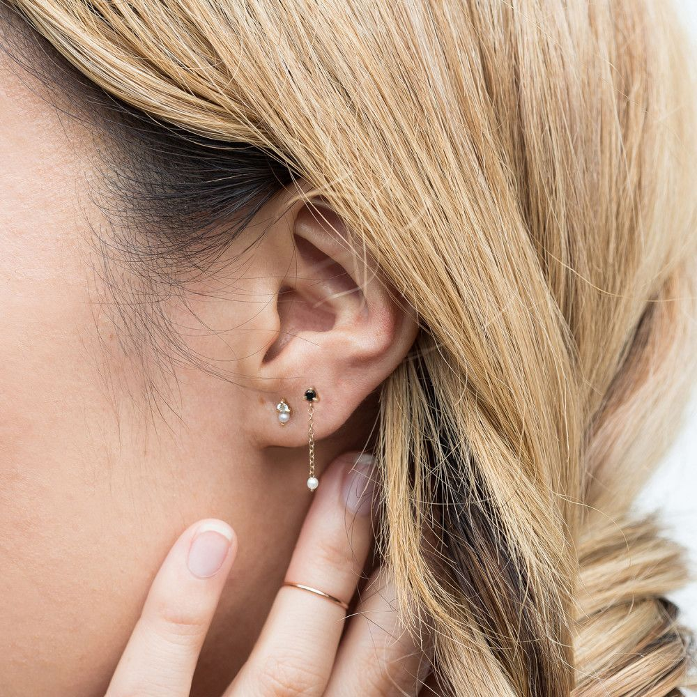 Catbird Dewdrop Earring Black Diamond Earrings Princess Diamond Earrings Diamond Earrings