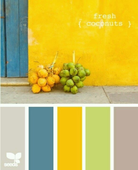 This color scheme makes me think of a tropical island over looking the  ocean with lemon