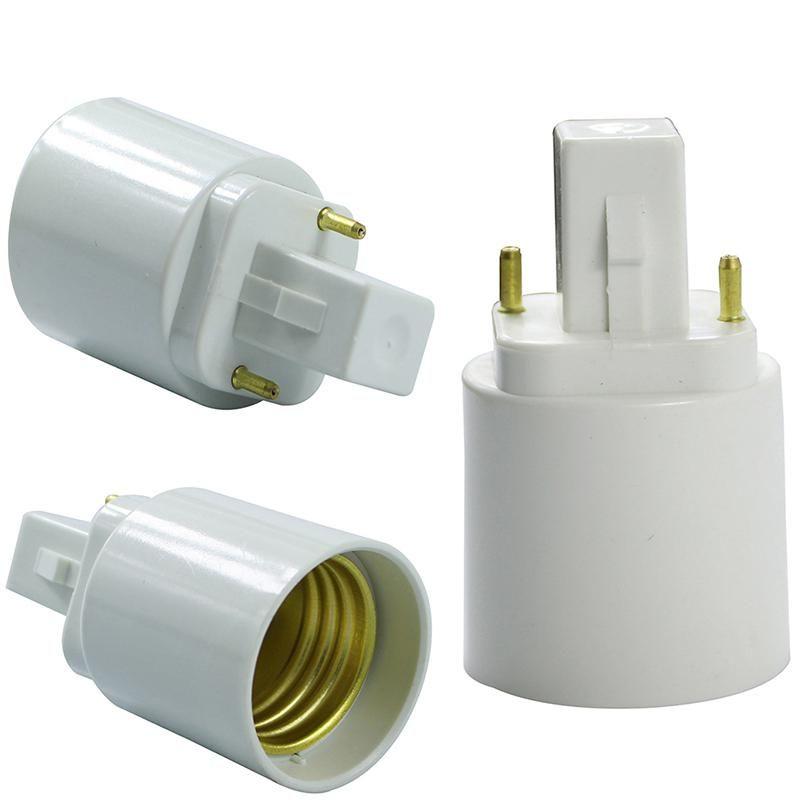 G24 To E27 Retardant Pbt Bombillas Led Adapter Converter White E27 To Us 1 27 Bulb Led Light Accessories