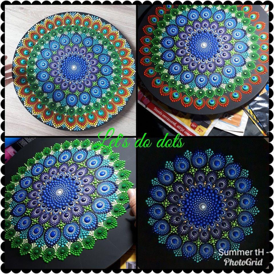 3D peacock finally done! | Mandalas | Mandala art, Dot