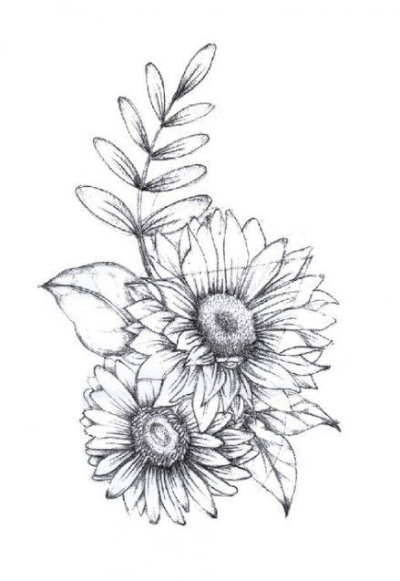 Drawing tattoo sunflower beautiful 28+ ideas