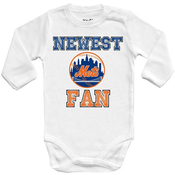 New York Mets Newest fan MLB NY Baby Vest Baby by deinash0p