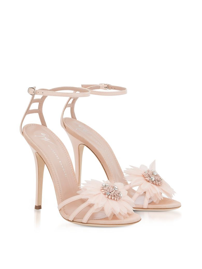f12dfb054955 Best price in the market for Giuseppe Zanotti Annemarie Pink Patent Leather  High Heel Sandals W flower