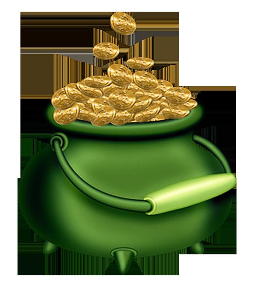 St Patricks Day Green Pot of Gold PNG Clipart | Irish Clip ...