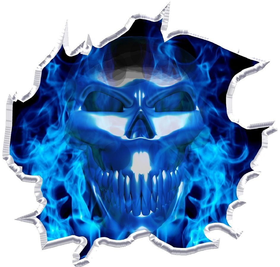 Flaming Skull Ripped Cornhole Board Game Decals Hoods And Cars - Motorcycle tribal custom stickers designmotorcycle sticker tribal promotionshop for promotional