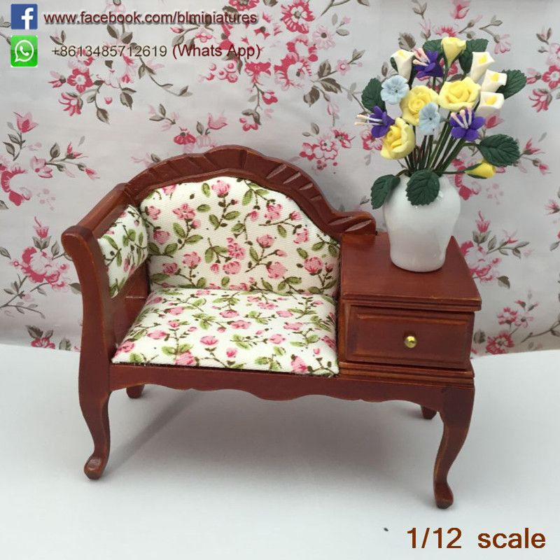 Find More Furniture Toys Information About High Quality Doll House Furniture  Coffee Sofa With Drawer Miniature