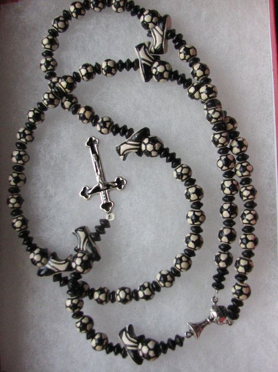 hockey custom sports themed rosary great communion gift