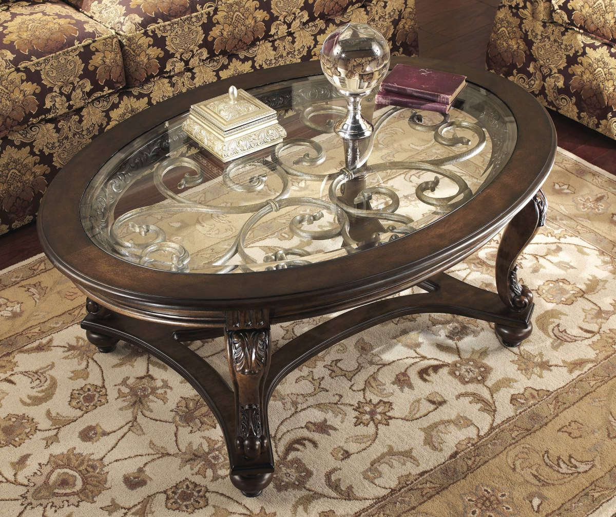 Signature Design By Ashley Norcastle Oval Coffee Table Big Lots Glass Top Coffee Table Oval Coffee Tables Coffee Table Wood [ 1006 x 1200 Pixel ]