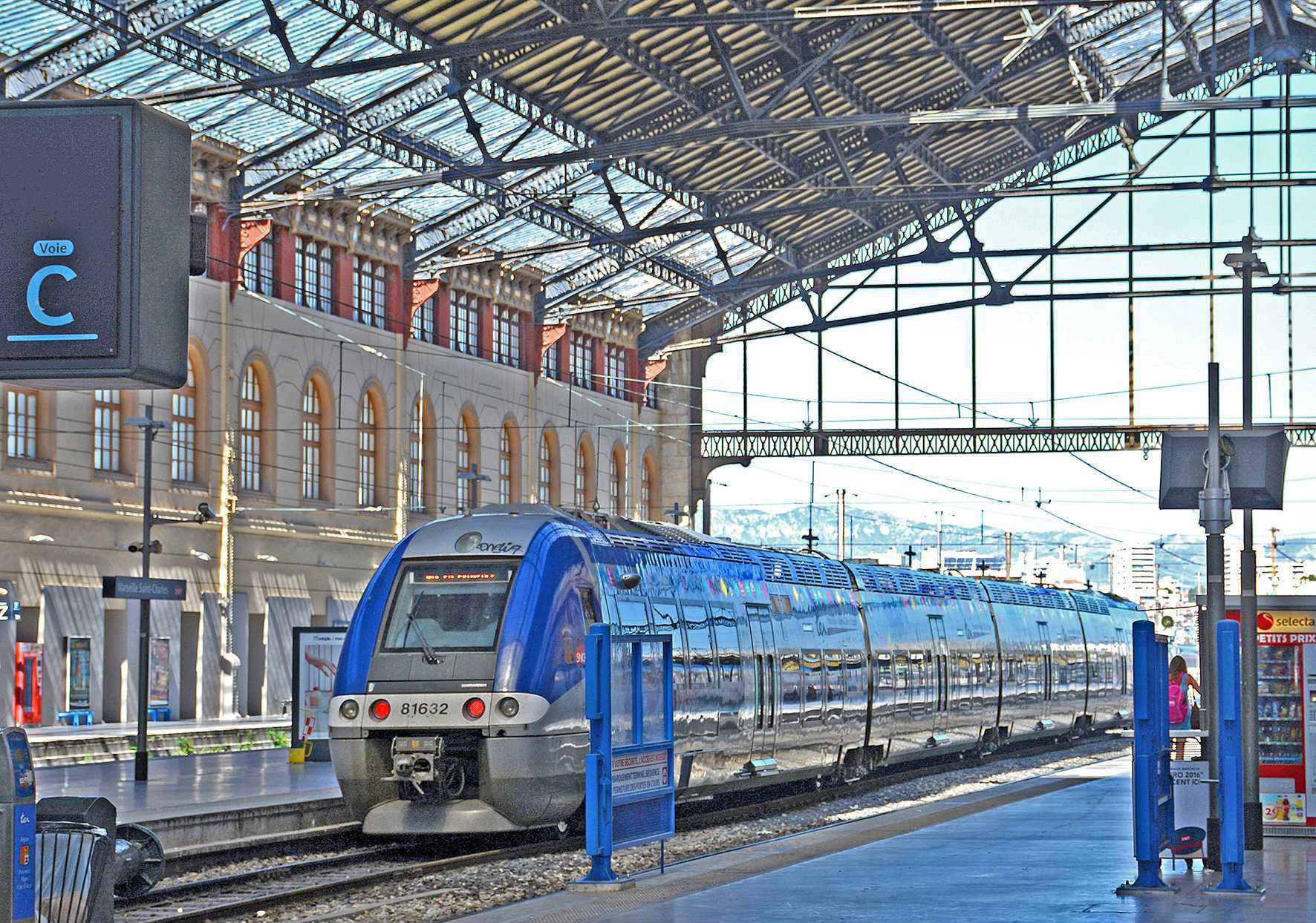 TER Train Station Saint-Charles in Marseille (illustration).