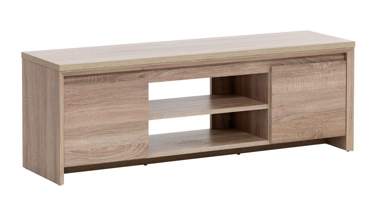 Tv Bench Hallund 2 Doors 1 Shelf Oak Jysk Living Room  # Meuble Tv Jysk