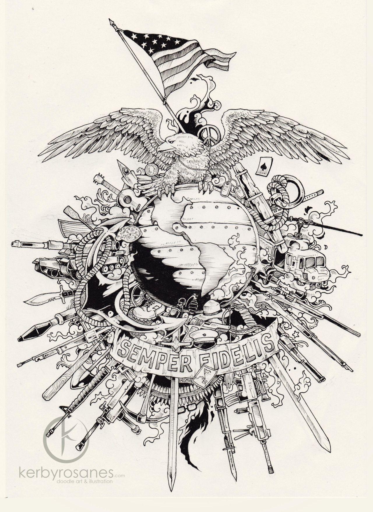 Semper Fidelis Sketchy Stories by Kerby Rosanes | Artist Kerby ...