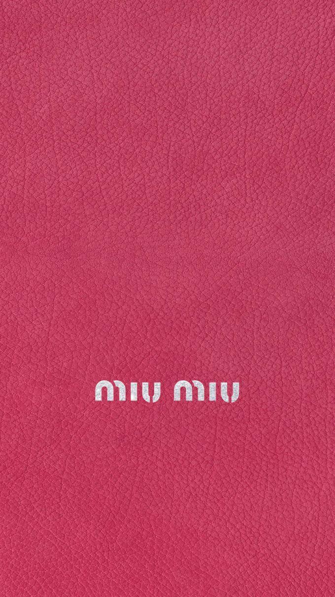 ミュウミュウ キラキラロゴ ピンクレザー ピンク 壁紙 Iphone
