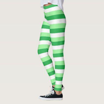 cc6d9d2e3329b Mint Green Green and White Stripes Leggings - patterns pattern special  unique design gift idea diy