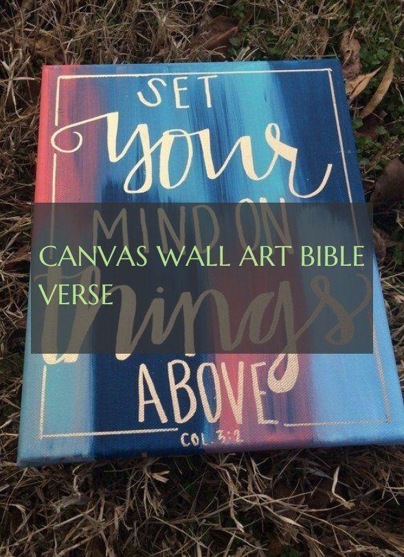 canvas wall art bible verse