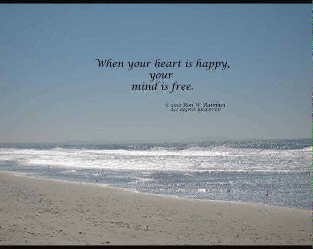 When Your Heart Is Happy Your Mind Is Free Peace Of Mind Quotes Peace Quotes Inner Peace Quotes