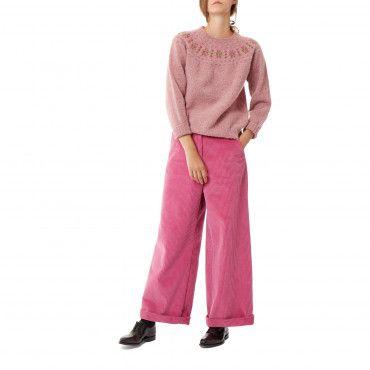 Harley Brushed Fair Isle Sweater in Pink | Looks I love ...