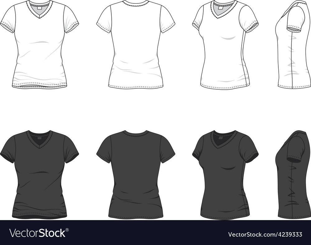 Download V Neck T Shirt Vector Image On Vectorstock Vector Clothes Hoodie Vector Clothing Templates